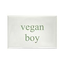 vegan boy Rectangle Magnet (10 pack)