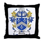 Moody Coat of Arms Throw Pillow