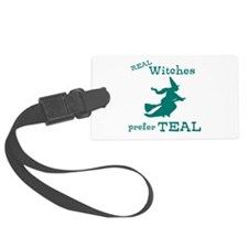 Teal Witch Luggage Tag