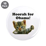 "Cats for Obama! 3.5"" Button (10 pack)"