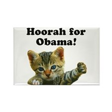 Cats for Obama! Rectangle Magnet