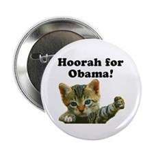 """Cats for Obama! 2.25"""" Button (10 pack)"""