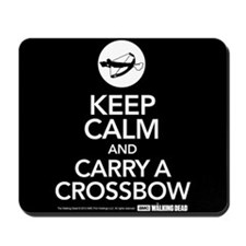 Keep Calm Carry a Crossbow Mousepad