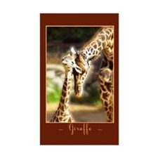 Giraffe Mom Baby Rectangle Decal