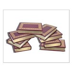 Stacked Books Gold leaf Small Poster