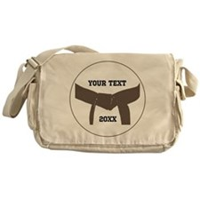 Custom Martial Arts Brown Belt Messenger Bag
