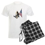 American Flag and Scarf Men's Light Pajamas