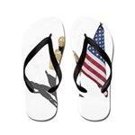 American Flag and Scarf Flip Flops