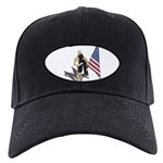 American Flag and Scarf Black Cap