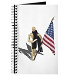 American Flag and Scarf Journal