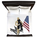 American Flag and Scarf King Duvet