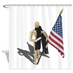 American Flag and Scarf Shower Curtain