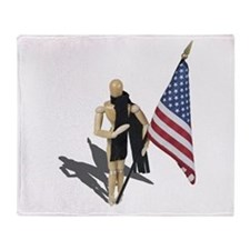American Flag and Scarf Throw Blanket
