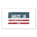 American Flag and Scarf Rectangular Cocktail Plate