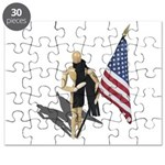 American Flag and Scarf Puzzle