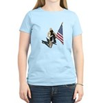 American Flag and Scarf Women's Light T-Shirt