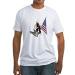 American Flag and Scarf Fitted T-Shirt