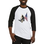 American Flag and Scarf Baseball Jersey
