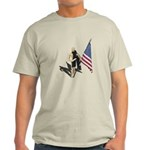 American Flag and Scarf Light T-Shirt