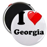 "I Heart Love Geogia.png 2.25"" Magnet (10 pack)"