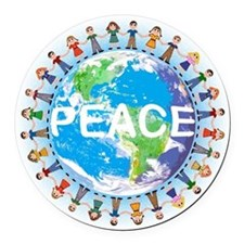 Peace Car Magnet - children holding hands earth