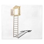 Ladder to Shuttered Window King Duvet