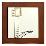 Ladder to Shuttered Window Framed Tile