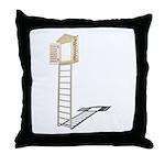 Ladder to Shuttered Window Throw Pillow
