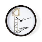 Ladder to Shuttered Window Wall Clock