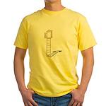 Ladder to Shuttered Window Yellow T-Shirt