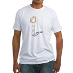 Ladder to Shuttered Window Fitted T-Shirt