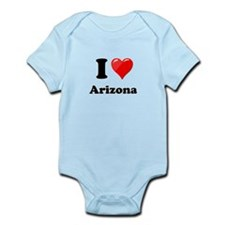 I Heart Love Arizona.png Infant Bodysuit