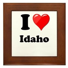 I Heart Love Idaho.png Framed Tile