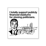 "Public Stadium Square Sticker 3"" x 3"""