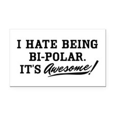 Bi-Polar Awesome Rectangle Car Magnet