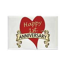 Cute 1st wedding anniversary Rectangle Magnet (10 pack)