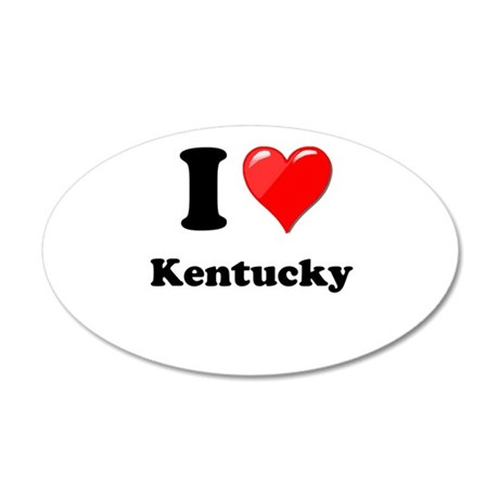 I Heart Love Kentucky.png 20x12 Oval Wall Decal