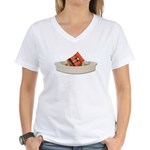 Life Vest Boat Women's V-Neck T-Shirt