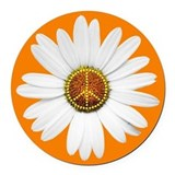 Peace Sign Car Magnet / Peace Daisy