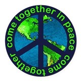 Peace on Earth Car Magnet / Peace Sign Earth
