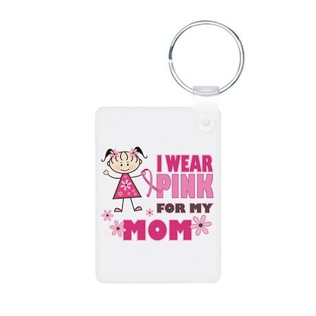 Wear Pink 4 Mom Aluminum Photo Keychain