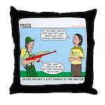 Rifle Shooting Throw Pillow