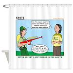 Rifle Shooting Shower Curtain