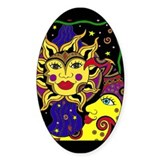 Celestial Flow Oval Decal