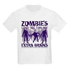 Zombies Love Me for my Extra Brains T-Shirt