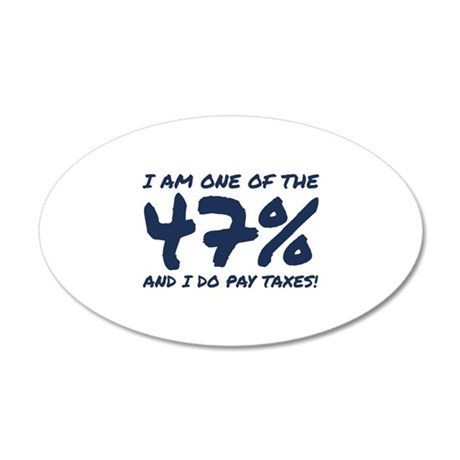 I Am One Of The 47 Percent 38.5 x 24.5 Oval Wall P