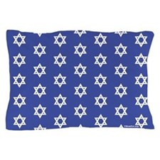 Mogen David (dark blue) Matching Stars Pillowcase
