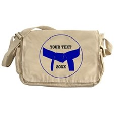 Custom Martial Arts Blue Belt Messenger Bag