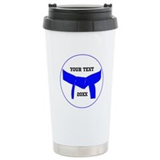 Custom Martial Arts Blue Belt Travel Mug