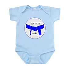Custom Martial Arts Blue Belt Infant Bodysuit